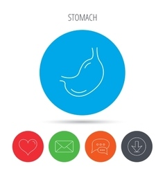 Stomach icon gastroscopy health sign vector