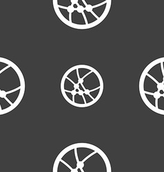Basketball icon sign seamless pattern on a gray vector