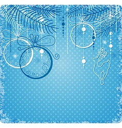 Blue and white decorations vector