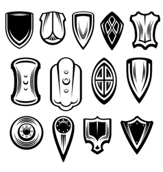 Fantasy shields collection vector
