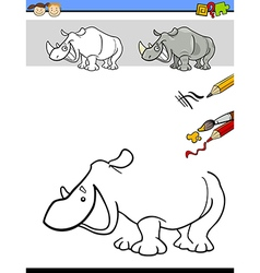 Drawing and coloring task vector