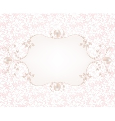 Background with pearl frame vector