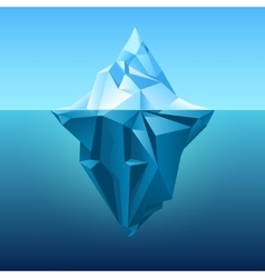 Iceberg in blue ocean background vector