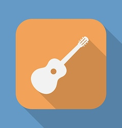 Guitar icon symbol sign guitar logo template vector