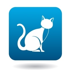 Cat icon simple style vector