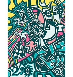 Abstract background in graffiti style vector image vector image