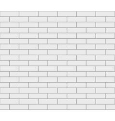 Abstract seamless white flat brick wall vector image