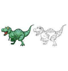 Animal outline for t-rex dinosaur vector