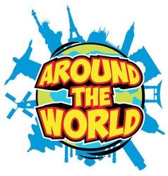 Around the world vector