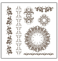 Beautiful calligraphic patterns vector image vector image
