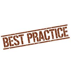 Best practice stamp vector