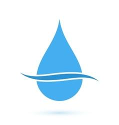 Blue drop symbol vector image