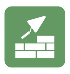 Brick with trowel symbol vector