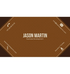 Brown creative business card vector image vector image