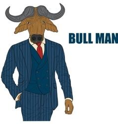 Cartoon character bull vector image