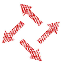 Centrifugal arrows fabric textured icon vector