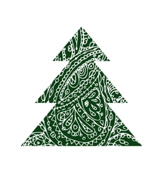 Christmas trees design vector image vector image