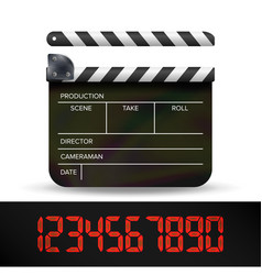 Clapper board digital film movie clapper vector
