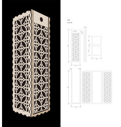 Cut out template for wine box vector