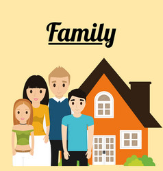 Family home architecture image vector
