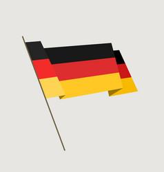 flat style waving germany flag vector image vector image