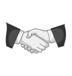 handshakerealtor single icon in monochrome style vector image vector image