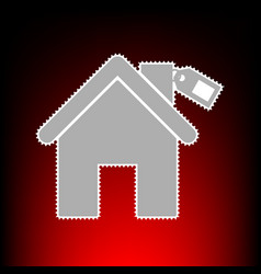 home silhouette with tag vector image vector image