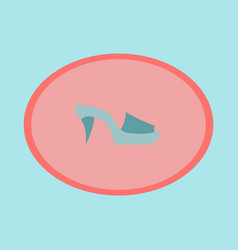 icon in flat design fashion footwear flip flops vector image