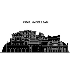 India hyderabad architecture urban skyline with vector