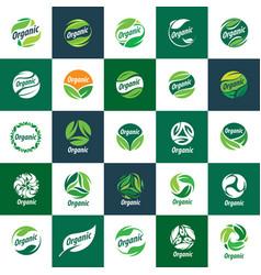 Logo organic vector