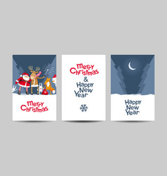 merry christmas lettering design template vector image vector image