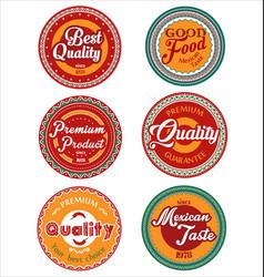 mexican design retro vintage labels collection vector image