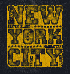New york city typography graphics vector
