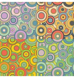 Psychedelic circles pattern set vector