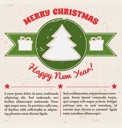 retro festive template vector image