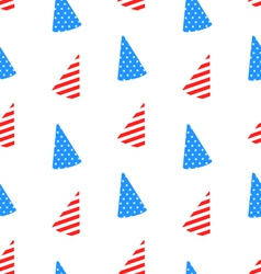 Seamless Texture Hudcap for Independence Day vector image vector image