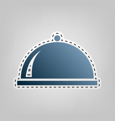 Server sign blue icon with vector
