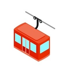 Ski lift icon isometric 3d style vector image vector image