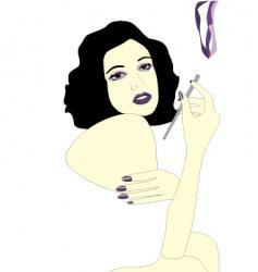 Smoking girl vector