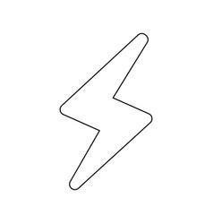 thunder icon image vector image