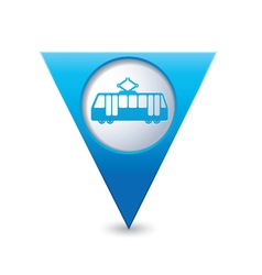 tram icon map pointer blue vector image vector image
