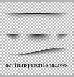 transparent realistic paper shadow effects on a vector image vector image