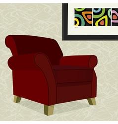 velvet armchair vector image