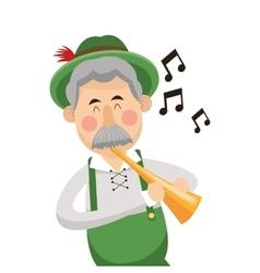 Bavarian musician icon vector