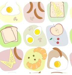 Breakfast table seamless pattern vector