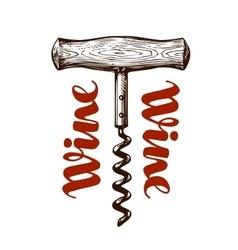 Wine corkscrew vector