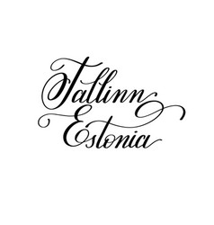 hand lettering the name of the european capital - vector image