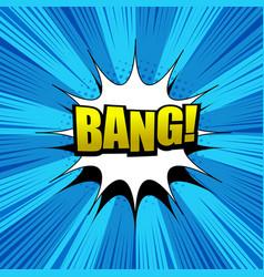 Comic bang wording background vector