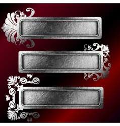 Silver frames set vector