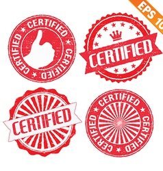 Stamp sticker certified collection - - EPS1 vector image